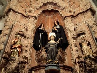 SANTA BONA e SÃO LÚCIO na Igreja da Ordem Terceira em São João Del Rey/MG.
