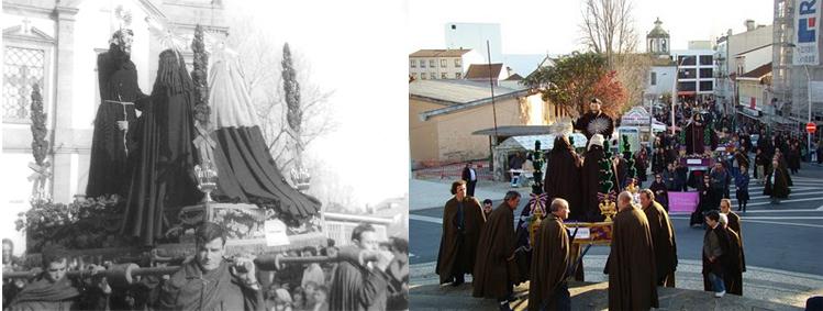 Procissão de Cinzas em Ovar, Portugal. (a 1ª foto Flickr de a Alberto Robaleiro; a 2ª de António Mendes Pinto.